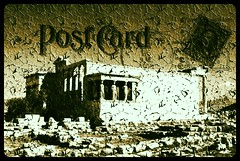 "Postcard from ancient Greece (wallace39 "" mud and glory "") Tags: bw postcard hellas bn greece caryatids antiquity antichit atene cariatidi cartolinapostale photographyforrecreation rememberthatmomentlevel1"
