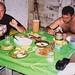 Uma bela janta com carne de veado e trairão