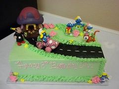 DSCN1290 (Pastries by Design) Tags: cake toys smurfs