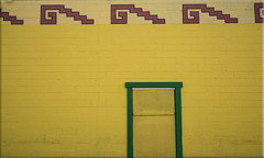 Abstract #3 - Yellow Wall (Jill Clardy) Tags: city food abstract yellow wall design la store saturated colorful bright market painted mexican 100views redwood grocery primary day36 azteca day36365 3652013 week6theme 365the2013edition 05feb13 4b4a0245