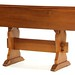 130. Trestle Base Drop Leaf Table