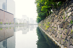 Imperial Wall (The New No. 2) Tags: old city travel vacation urban white reflection building tree castle history water japan stone wall architecture asian outdoors japanese tokyo ancient kyoto asia king december day fort traditional famous january formal culture royal landmark scene palace historic east imperial oriental ornamental moat prefecture fortress tranquil emperor 2012 chiyoda nobility 2013 johncrouch copyrightjohncrouch johncrouchphotography crouchphotos