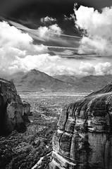 Rocky Mountains (sotiris_tzatzakis) Tags: landscape black white monochrome bnw bw greece meteora contrast mountain sky clouds nikon d5100