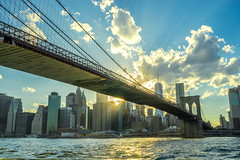 Brooklyn Bridge at Sunset (si_glogiewicz) Tags: new york city manhattan brooklyn bridge sunset sky skyline clouds dusk america cityscape