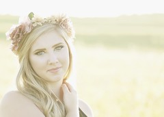 Sun kissed. (Juan-M) Tags: boho portrait rimlight pastel female flowerchild blonde fashion blueeyes