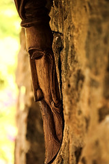 The Old Man of the Lake (sphaisell) Tags: india tamilnadu wooden carving art lakeside man beard interesting southindia