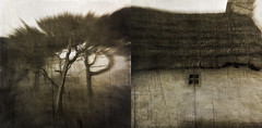 """With loving feet to trace each hill and glen"" (mark kinrade) Tags: manx landscape tebrown mist vintage diptych"