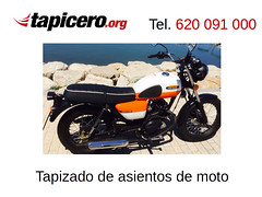 Tapizado de asiento de moto a rayas (Tapicero de motos) Tags: tapizado vintage rayas asiento moto tapizar
