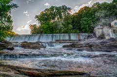 Waterfalls-on-Housatonic (desouto) Tags: nature hdr pond lake water plants trees waterfall rivers rocks