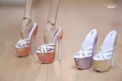 Flowers Heels (UrsiSarna) Tags: ursi sarna fashion popovy sisters little owl peewet bony high heels flower flowers hand made