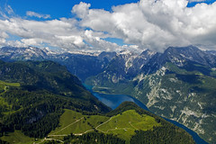 DSC_4187 (svetlana.koshchy) Tags: germany berchtesgadener land berchtesgaden landscape bavaria bayern alps alpen deutschland clouds reflection mountain knigssee