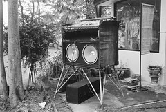 Temple Sound System (lonely radio) Tags: film leicam6 leicasummicronm35mmf2type1 rangefinder thailand temple speakers 000021