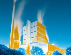 Get yourself in the mood (OR_U) Tags: 2016 oru germany helmstedt bushhaus powerplant powerstation power queen gradientmap sliderssunday hss blue yellow surreal night stars art