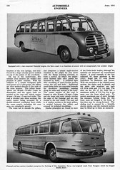 Continental Buses & Coaches, April 1954 Article (aldenjewell) Tags: continental buses coaches automobile engineer april 1954 magazine article setra coach henschel engine ikarus hungary