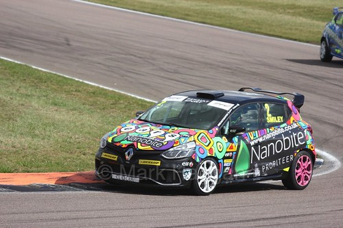 Chris Smiley at Rockingham during the Clio Cup, August 2016