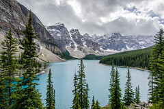 Moraine Lake 2 (TheReilDeal) Tags: banff banffnationalpark morainelake valleyofthetenpeaks mountains lake glacier alberta turqoise