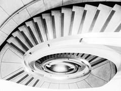 Anubis (Douguerreotype) Tags: england london uk british stairs spiral city britain architecture gb urban helix steps bw blackandwhite monochrome mono