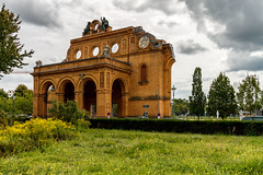 Berlin Anhalter Bahnhof (Mathay Jean-Luc) Tags: canon eos 1100d rebelt3 sigma sigma1750mm f28 berlin allemagne de germany deutschland outdoor building station gare anhalter bahnhof sky ciel clouds nuages trees arbres street rue city ville cityscape paysageurbain park parc green vert flowers fleurs colour europa europe couleur digital weather mto trip journey voyage world monde decay abandonn detruit destroyed ruine histoire history past pass guerre war topf25