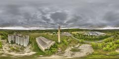 Cement Plant (milfodd) Tags: august 2016 abandoned cementplant aerialphotography quadcopter dji phantom3pro drone singlerawhdr 360 ptgui