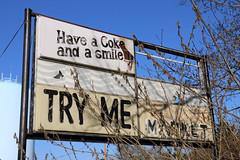 Try Me (jschumacher) Tags: virginia petersburg petersburgvirginia sign plasticsign