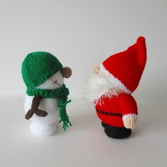 Father Crimbo and Snowy (Knitting patterns by Amanda Berry) Tags: father crimbo christmas xmas santa claus snowman snowmen doll dolls toy toys knit knits knitter knitters knitted knitting pattern patterns handmade crafts ornament ornaments decoration decorations craft crafting