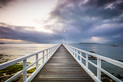 A Walk Between Light and Dark Sides (Melbourne Sam) Tags: point lonsdale pier