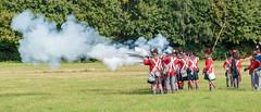Firing on the French - Napoleonic Skimish (Paul Parkinson LRPS (parkylondon)) Tags: 2016 august detling kent militaryodyssey history livinghistory military reenactment warfare