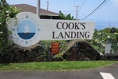 A Touch of Class (BarryFackler) Tags: sign signs outdoor captaincookhawaii cookslanding captaincookhi rockwall house home building structure yard lawn grass street utilitylines utilitypoles sailingship compass logo roof blunt frustrated angry neighborhood life outdoors 2016 barryfackler barronfackler island westhawaii hawaii kona tropical polynesia hawaiiisland hawaiicounty sandwichislands bigisland hawaiianislands text signboard