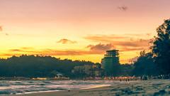New Building going up at beach (DerekJWatson) Tags: cambodia fujixe1 sihanoukville fisheye samyang8mm