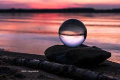 Crystalball in sunset... (Melanie Martinu) Tags: landschaft landscape natur nature steinbergersee wasser sky bayern bavaria water lake sunset crystalball