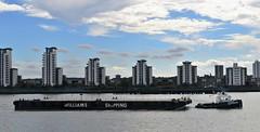 Haven Supporter + Wilcarry 1711 (3) @ Gallions Reach 12-09-16 (AJBC_1) Tags: london havensupporter dlrblog ajc newham northwoolwich londonboroughofnewham eastlondon england unitedkingdom uk ship boat vessel marineengineering nikond3200 tug tugboat collinswateragelighterage gallionspoint pontoon stantug1205 damen damenshipyardsgroup williamsshipping wilcarry1711 riverthames gallionsreach