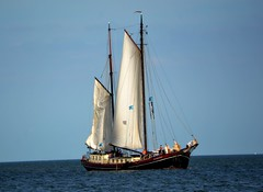 The Eenhorn (Clare-White) Tags: rulesofthird sails water sailing volendam nederlands blue white september