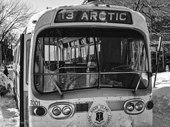 Arctic Express 13-Edit-Edit (uselessbay) Tags: 1978 canon canonf1 dxo f1 ilfordpanfplus50 kodakektar100 providence rhodeisland uselessbayphotography williamtalley blackandwhite blizzard bus film uselessbay winter