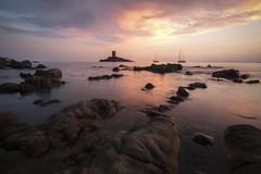 L'le d'Or (fredMin) Tags: long exposure sunset sea mediterranean fuji fujifilm var rocks xt1 samyang 12mm france cote dazur