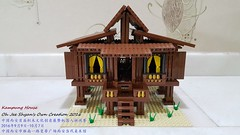 Kampung House 2 Front View (Oh Jee Shyan) Tags: building village kampung malays malaysia lego