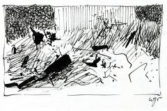 Wolfram Zimmer: Risk - Wagnis (ein_quadratmeter) Tags: wolfram zimmer bilder kunst malerei zeichnung images foto photo fotos photos gemlde wolframzimmer konzeptkunst objektkunst meinzimmer freiburg burgbirkenhof kirchzarten ausstellung ausstellungen pinsel tusche ink dessin exhibition exhibitions drawing landschaft landscape improvisation