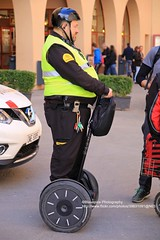 Montserrat, well-balanced policeman (blauepics) Tags: spain spanien espaa katalonien catalunya catalua montserrat monastery kloster abbey policeman polizist man mann uniform paul blart mall cop with kevin james