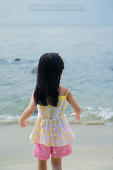 A day at the beach (AT.Photography) Tags: 1755 2012 adorable amazing 60d art asia beautiful beach black blue bokeh bright childhood children chinese color closeup composition contrast cute daylight dress family favorite fun great green grass h