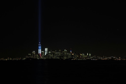 One World Trade Center, Tribute in Light, Sept. 11, 2012