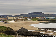 Bundoran from Rougey (linda_mcnulty) Tags: ireland sea mountains beach strand landscape coast town sand village view scenic cliffs coastline donegal bundoran dartry tullan roguey