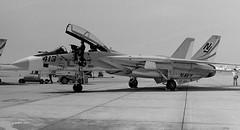 158631 Grumman F-14A VF-124 NJ413 (eLaReF) Tags: bw white black airplane f14 aviation navy aeroplane naval miramar usn tomcat grumman navalaviation f14a knkx nkx vf124 158631 nj413