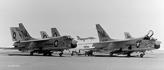 VF-194 Vought F-8J Crusader's 150660 NM207 & 150328 NM206 (eLaReF) Tags: miramar usn 150660 f8j nm207 150328 vf194 nm206 vought crusader lastgunfighter f8 lastofthegunfighters bw black white airplane aeroplane nkx knkx naval aviation navalaviation navy douglas a4 skyhawk scooter grumman f14 tomcat