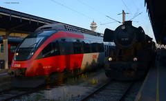 4124 034-2 und 52 100 (vsoe) Tags: train austria österreich engine eisenbahn railway zug steam bahn öbb steamengine dampflok ige züge dampf jubiläum 175jahre