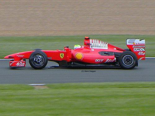 Felipe Massa in his Ferrari at the 2009 British Grand Prix