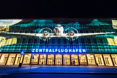 Berlin Festival of Lights 2012: Zentralflughafen (Lens Daemmi) Tags: 3 berlin festival germany lights dc airport flughafen festivaloflights 2012 tempelhof freiheit fol zentralflughafen tempelhofer