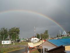 Tolhuim Tierra del Fuego (Pablo FJ) Tags: arcoiris tormenta nimbo doblearcoiris climatología geografíahumana nimbostratos núcleourbano núcleodepoblación