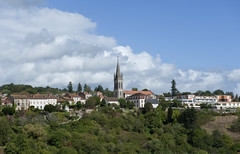 Nontron Skyline (dcnelson1898) Tags: travel france town europe rustic dordogne hilltop walledtown aquitaine nontron