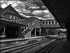 The old station. (gos1959) Tags: bw copenhagen trainstation rails valby thegalaxy gynther mygearandme mygearandmepremium mygearandmebronze mygearandmesilver
