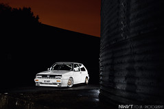 "Bens White VW Golf Rallye Mk 2 ""Explored"" 295th (NWVT.co.uk) Tags: light 2 white rabbit vw golf volkswagen studio gold nikon long exposure painted autobahn icon drop lips winner static incar split rims edition iconic bbs rare dub mk polished bens rallye 38 hatchback sic d300 wheelwhores nwvt"