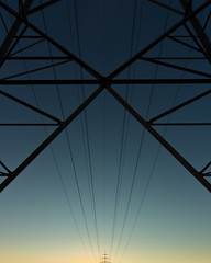 straight from the source (itawtitaw) Tags: morning blue sky abstract silhouette yellow architecture sunrise dark haze geometry bluesky line clear cables gradient minimalist transmissiontower canoneos60d tokinaatxpro1116mm28